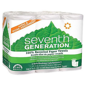 Seventh Generation Paper Towels -6 Pack