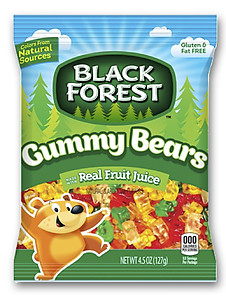 Black Forest Gummy Bears (Peg Pack)