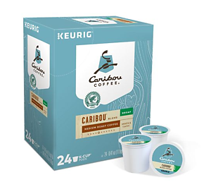 Caribou Coffee - Caribou Blend DECAF - K-Cups (24 Count)