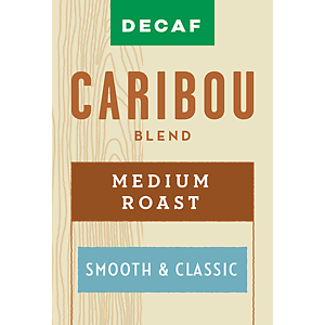 Caribou Blend DECAF Coffee (Whole Bean) 2.5 Pounds