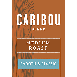 Caribou Blend Coffee - Medium (Whole Bean) 2.5 Pounds