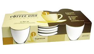 Coffee Bar Espresso Mugs (4 Count)