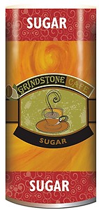 Sugar Canisters - Grindstone Cafe (Individual or Case)
