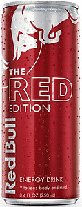 The Red Bull Red Edition Energy Drink