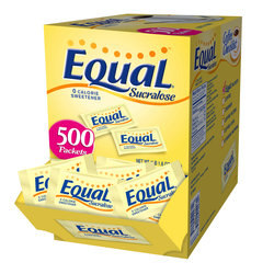 Equal Yellow Sucralose Sweetener 500 Count